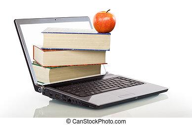 moderne, undervisning, lærdom, online