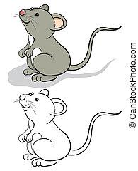 morskab, mus