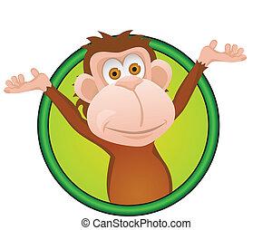 morsom, abe, cartoon