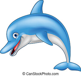 morsom, delfin, cartoon