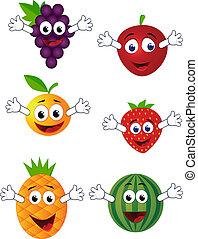 morsom, frugt, karakter