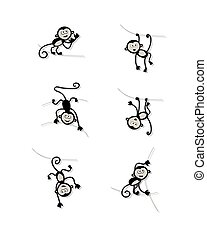 morsom, konstruktion, abe, samling, din