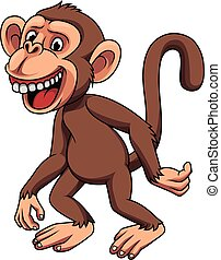 morsom, liden, cartoon, abe