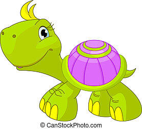 morsom, skildpadde, cute