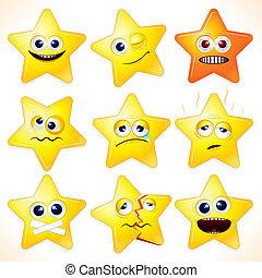 morsom, stjerner