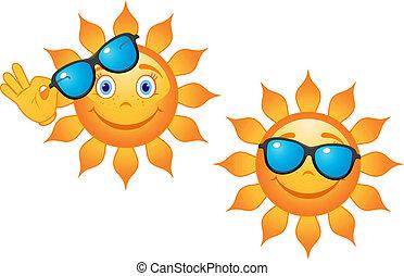 morsom, sunglasses, sol