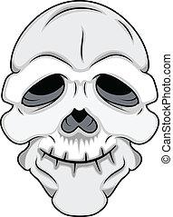 morsom, vektor, maske, kranium