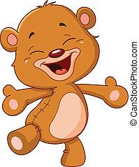 muntre, bjørn, teddy