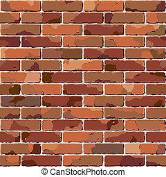 mursten, wall., gamle, seamless, texture.