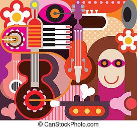 musik, abstrakt kunst