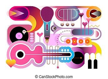 musik, baggrund, abstrakt