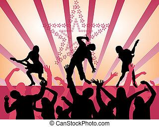 musik, -, begivenhed