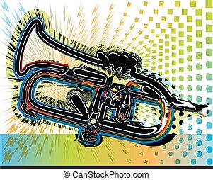 musik instrument, illustration