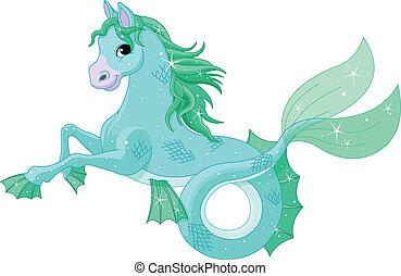mytologiske, hav hest