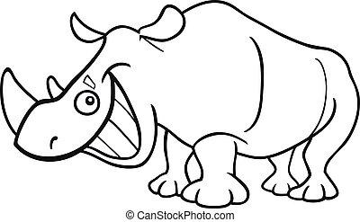 næsehorn, coloring bog