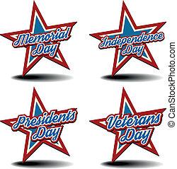 national ferie, stjerner