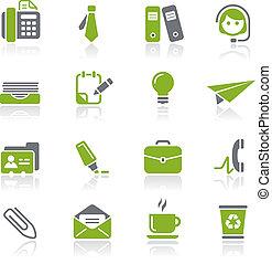 natura, kontor, firma, og, iconerne, /