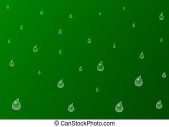 nedgange, grøn baggrund