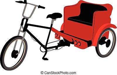 nej, afdækket, pedicab