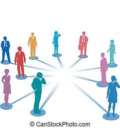 netværk, firma, arealet, folk, sammenhænge, forbinde, kopi