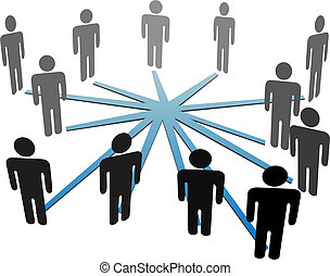 netværk, folk branche, medier, forbinde, sociale, eller