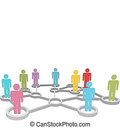 netværk, folk branche, miscellaneous, forbinde, sociale, eller