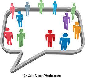 netværk, folk, medier, symboler, tale, sociale, boble