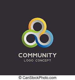 netværk, konstruktion, teamwork, icon., gruppe, hold, sociale, 3, sammenslutning, vektor, kompagniskab, logo, venskab, arbejde, skabelon, logotype, samfund, trefoldig