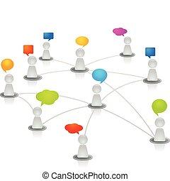 netværk, menneske