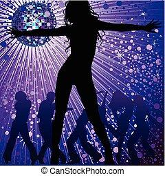 night-club, folk, dansende