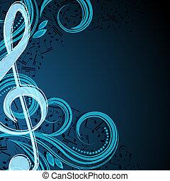 notere, vektor, musikalsk begavet, baggrund