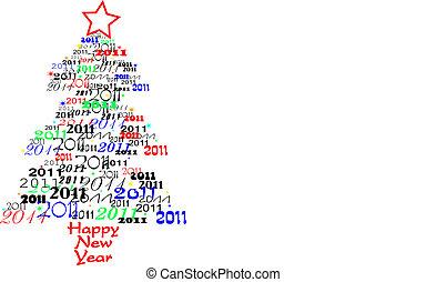 nye, 2011, træ, år