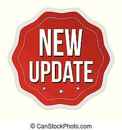 nye, aktualisere, etikette, eller, mærkaten