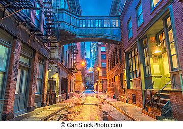 nye, alleyways, york, byen