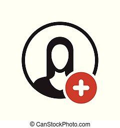 nye, folk, positiv, tegn., adder, avatar, ikon, plus, symbol, ikon