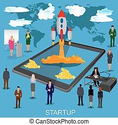 nye, igangsætning, startup, firma