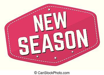 nye, mærkaten, eller, sæson, etikette