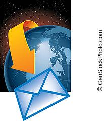 omslutter, email, jord