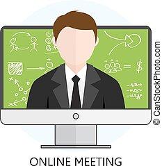 online møde, begreb