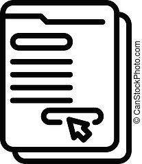 online, os, ikon, firmanavnet, kontakt, udkast