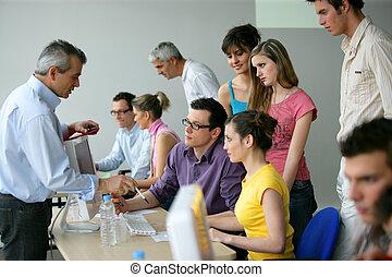 oplæring, undervisning, businesspeople