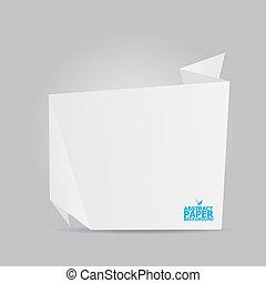 origami, abstrakt, avis, hvid baggrund