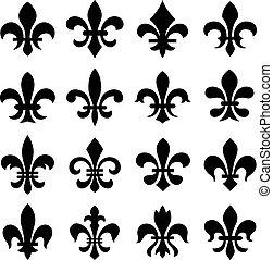 orleans, symbol, læsider, fleur, af