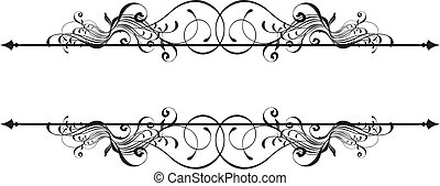 ornamental, banner, skønhed