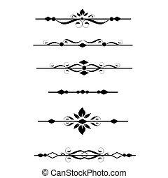 ornamental, dividers, kanter, side