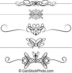 ornamental, dividers, side