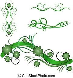 ornamental, elementer, konstruktion