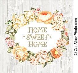 ornamental, flowers., etikette