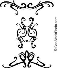 ornamental, stamme, konstruktion
