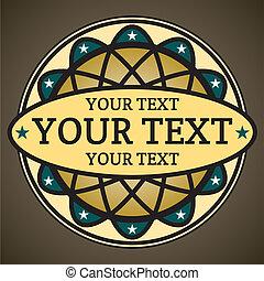 ornamental, tekst, sted, din, etikette